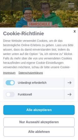 Vorschau der mobilen Webseite www.fahrwerk-korbach.de, Fahrschule Fahrwerk