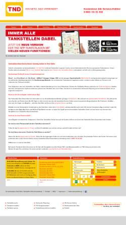 Vorschau der mobilen Webseite www.tank-netz.de, Tankstellen-Netz-Deutschland GmbH