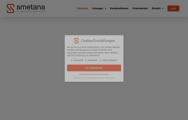 Vorschau von www.finanzdienstleistungen-smetana.de, Finanzdienstleistungen Gerlinde Smetana
