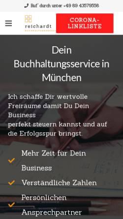 Vorschau der mobilen Webseite reichardt-buchhaltung.de, Florian Reichardt - Buchhaltungsservice