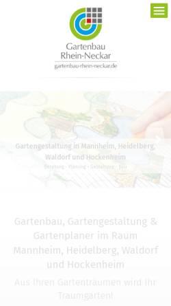 Vorschau der mobilen Webseite www.gartenbau-mannheim.de, Home & Garden Solutions