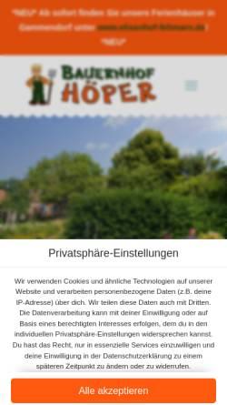 Vorschau der mobilen Webseite www.bauer-hoeper.de, Bauer Höper