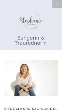 Vorschau der mobilen Webseite www.stephanie-meissner.de, Stephanie Meissner