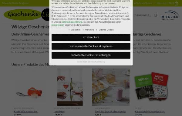 Vorschau von geschenkelist.de, Geschenke List