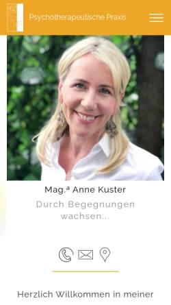 Vorschau der mobilen Webseite www.anne-lintner.at, Psychotherapie Anne Lintner
