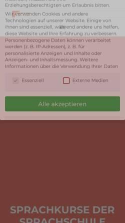 Vorschau der mobilen Webseite www.sprachschule-centro-ffm.de, Sprachinstitut Centro Lingue Mediterranee