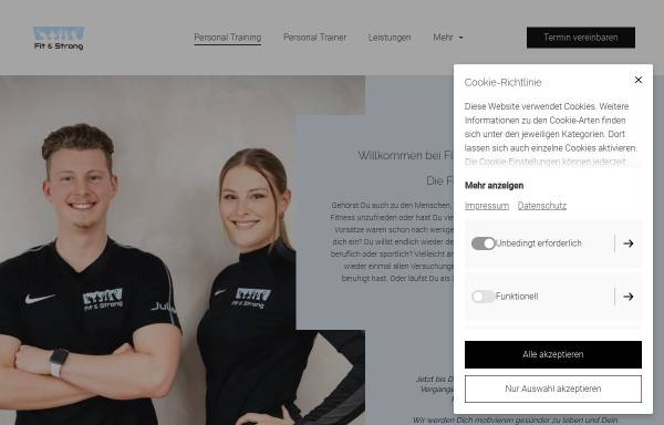 Vorschau von www.fit-strong.de, Fit & Strong Personal Training