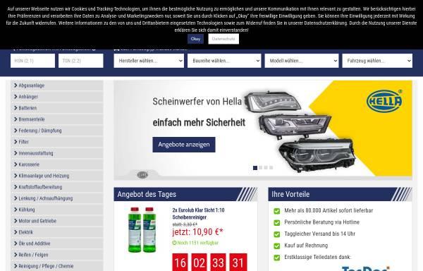 Vorschau von www.autoteile-preiswert.de, Autoteile Preiswert - renet Autoteile Netzwerk GmbH