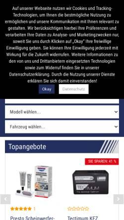 Vorschau der mobilen Webseite www.autoteile-preiswert.de, Autoteile Preiswert - renet Autoteile Netzwerk GmbH