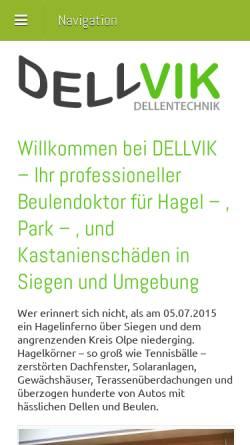 Vorschau der mobilen Webseite dellvik-dellentechnik.de, Dellvik Dellentechnik