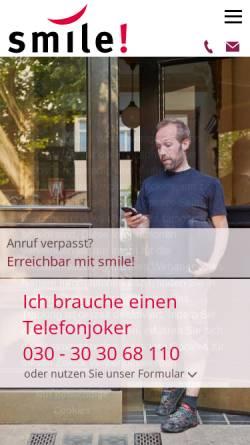 Vorschau der mobilen Webseite smile-buero.de, smile! GbR
