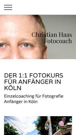 Vorschau der mobilen Webseite www.christian-haas-foto.de, Christian Haas Fotocoach