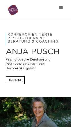 Vorschau der mobilen Webseite www.anja-pusch.de, Anja Pusch - Heilpraktikerin für Psychotherapie