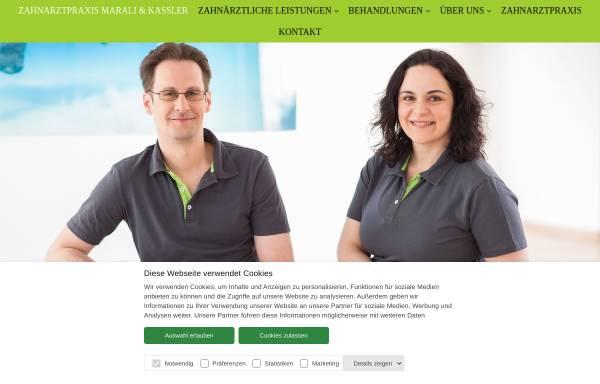 Vorschau von www.kassler-marali.de, Zahnarztpraxis Dr. Kaßler & Dr. Marali