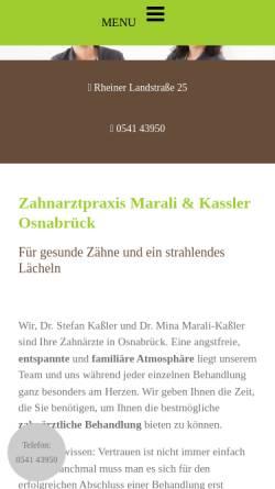 Vorschau der mobilen Webseite www.kassler-marali.de, Zahnarztpraxis Dr. Kaßler & Dr. Marali