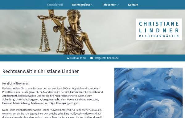 Vorschau: Rechtsanwältin Christiane Lindner