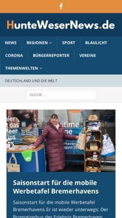 Vorschau der mobilen Webseite huntewesernews.de, HWN - Huntewesernews