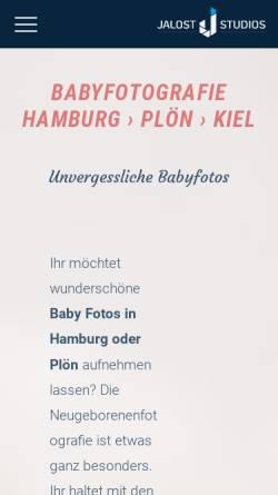Vorschau der mobilen Webseite www.babyfotografie.hamburg, Max Jalost