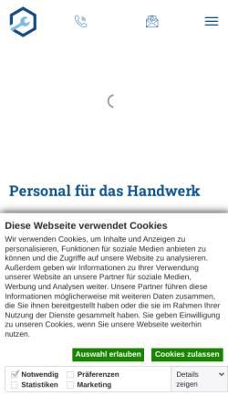 Vorschau der mobilen Webseite www.frei-personal.de, Frei Personal GmbH