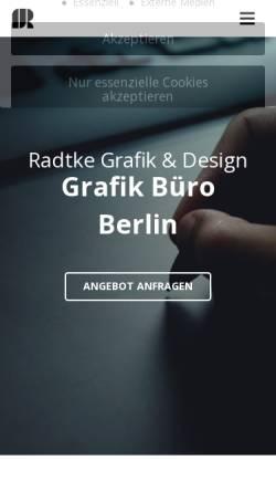 Vorschau der mobilen Webseite radtke-grafik.de, Radtke Grafik & Design