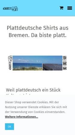 Vorschau der mobilen Webseite www.da-biste-platt.de, dabisteplatt