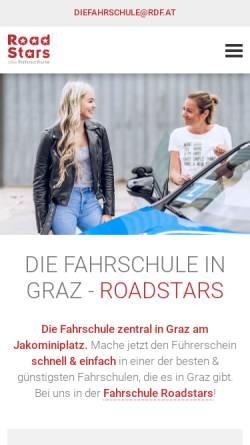 Vorschau der mobilen Webseite rdf.at, Fahrschule Roadstars