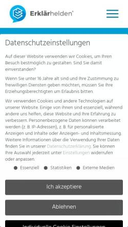 Vorschau der mobilen Webseite www.erklaerhelden.de, Erklärhelden GbR