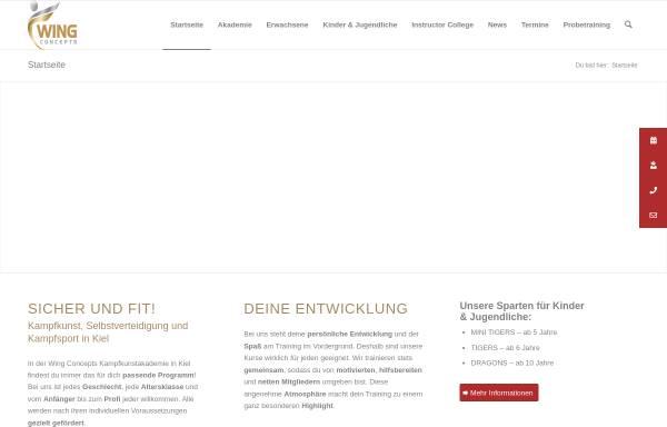 Vorschau von www.wing-concepts.de, Wing Concepts - Kampfkunstakademie