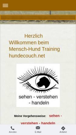 Vorschau der mobilen Webseite www.hundecouch.net, Hundecouch - Britta Ebert-Schöbel