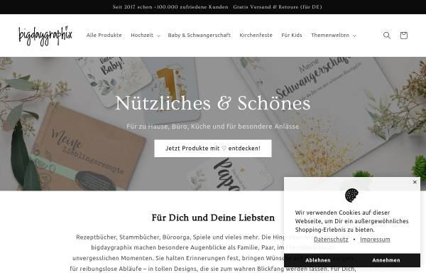 Vorschau von bigdaygraphix.de, bigdaygraphix GbR