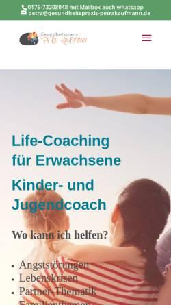 Vorschau der mobilen Webseite www.gesundheitspraxis-petrakaufmann.de, Gesundheitspraxis Petra Kaufmann
