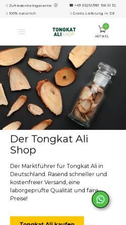 Vorschau der mobilen Webseite www.tongkatali-shop.de, Tongkat Ali Shop - FITNESS VITAL UG