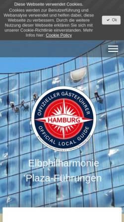 Vorschau der mobilen Webseite www.elbphilharmonie-plaza-fuehrungen.de, Elbphilharmonie Plaza-Führung