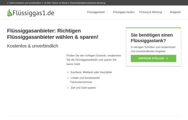 Vorschau von www.fluessiggas1.de, Flüssiggas1.de GmbH