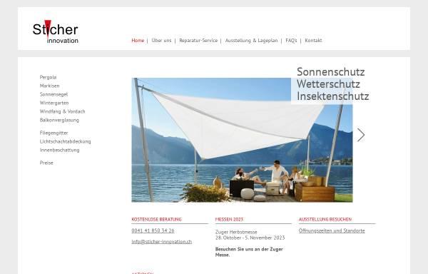 Vorschau von www.sticher-innovation.ch, Sticher Innovation AG