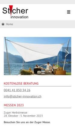 Vorschau der mobilen Webseite www.sticher-innovation.ch, Sticher Innovation AG