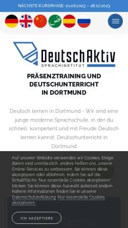 Vorschau der mobilen Webseite www.deutsch-aktiv.schule, Deutsch Aktiv Sprachinstitut