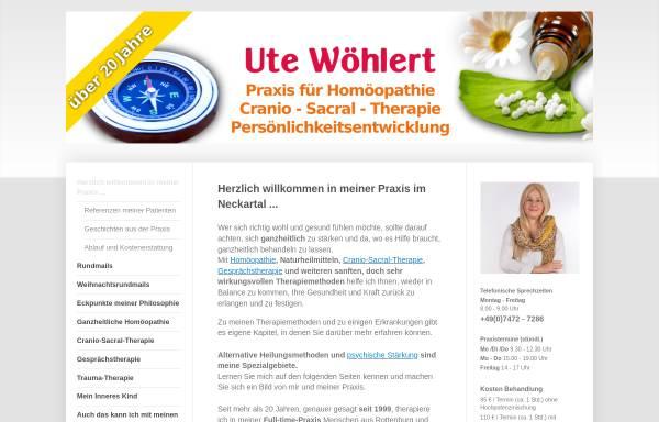 Vorschau von www.homoeopathie-woehlert.de, Praxis Ute Wöhlert Heilpraktikerin