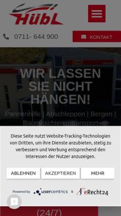 Vorschau der mobilen Webseite www.huebl-stuttgart.de, Hübl GmbH & Co KG