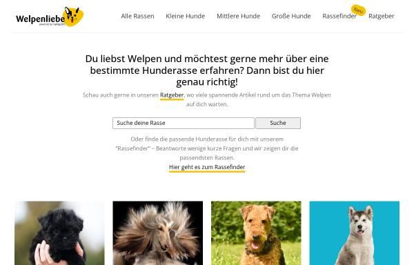 Vorschau von www.welpen-liebe.de, Welpen Liebe - Bang Boom Woof GmbH
