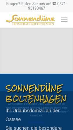 Vorschau der mobilen Webseite www.sonnenduene-boltenhagen.de, Apartment
