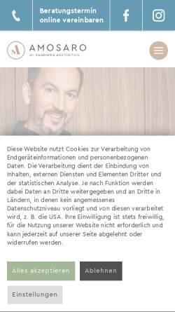 Vorschau der mobilen Webseite www.amosaro.de, AMOSARO – Dr. Sandweg Aesthetics