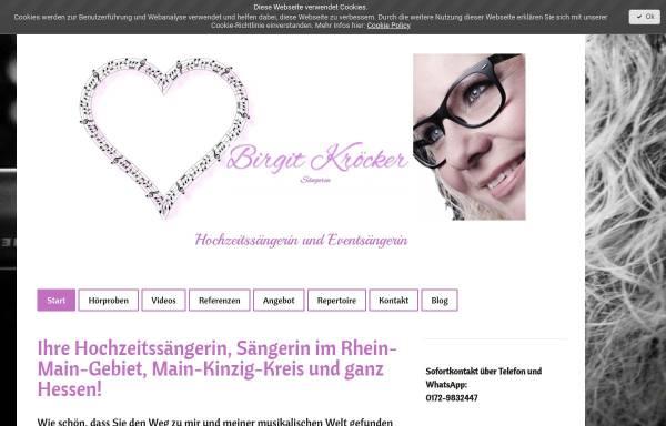 Vorschau von www.birgit-hochzeitssaengerin.de, Birgit Hochzeitssängerin