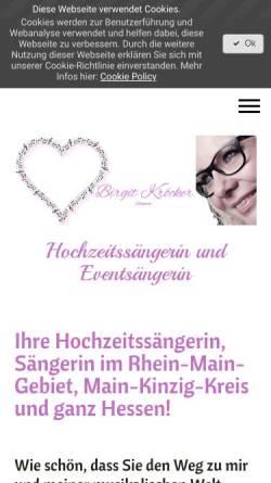 Vorschau der mobilen Webseite www.birgit-hochzeitssaengerin.de, Birgit Hochzeitssängerin