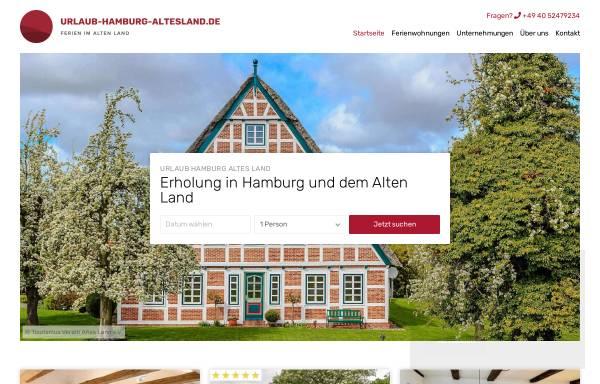 Vorschau von www.urlaub-hamburg-altesland.de, Ferienwohnungen auf dem Deich