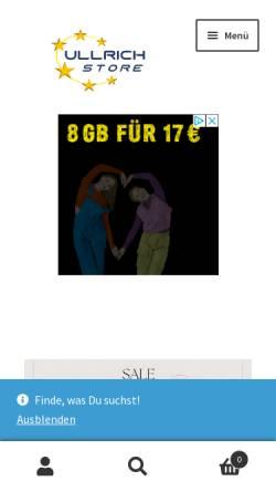 Vorschau der mobilen Webseite www.ullrich.store, ullrich.store - Ullrich GmbH & Co. Handelsunternehmen KG