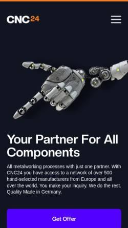 Vorschau der mobilen Webseite www.cncteile24.de, CNCTeile24 GmbH