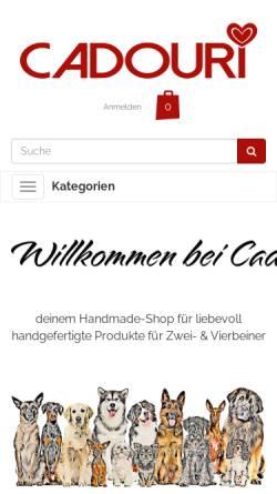 Vorschau der mobilen Webseite www.cadouri.de, Cadouri - handmade Shop