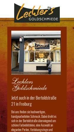 Vorschau der mobilen Webseite www.goldschmiede-lechler.de, Lechlers Goldschmiede GbR