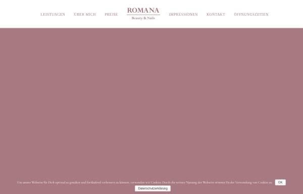 Vorschau von romana-beauty.de, Romana Beauty & Nails